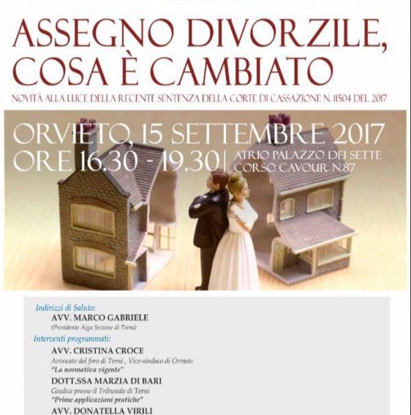 """Photo of """"Assegno divorzile, cosa è cambiato"""" ne discutono a Orvieto gli avvocati dell'Aiga"""