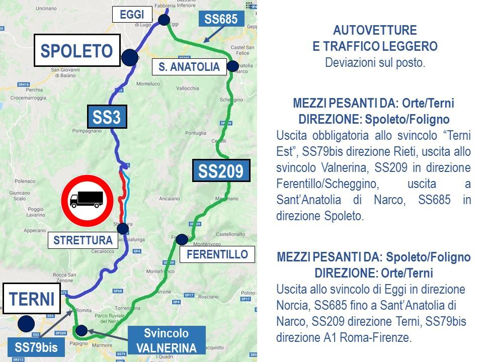 Photo of Sicurezza del viadotto, la Terni-Spoleto resta chiusa fino al 18 dicembre